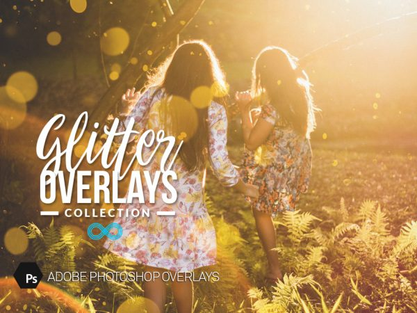 Glitter Bokeh Photoshop Overlays